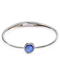 Nadri Sterling Silver And Tanzanite Hinged Bangle Bloomingdale's Exclusive