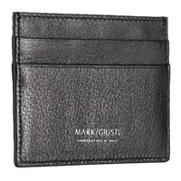 Mark Giusti Napa Printed Leather Credit Card Holder Black And Venice