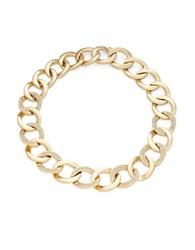 House Of Harlow Hammered Chainlink Necklace Gold
