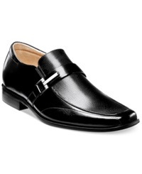 Stacy Adams Beau Bit Perforated Slip On Loafers Men's Shoes Black