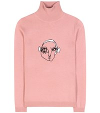 Shrimps Marion Wool Turtleneck Sweater Pink