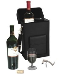 Royce Leather Connoisseur Wine Carrier Black
