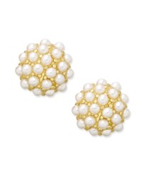 Erwin Pearl Atelier For Charter Club Gold Tone Mini Imitation Pearl Cluster Stud Earrings Only At Macy's