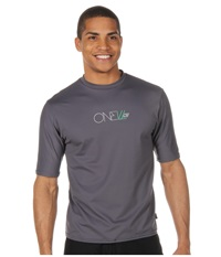 O'neill Skins Short Sleeve Rash Tee Graphite Men's Swimwear Gray
