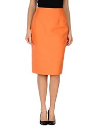 Les Copains Skirts 3 4 Length Skirts Women Orange