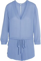 Mason By Michelle Mason Silk Georgette Playsuit