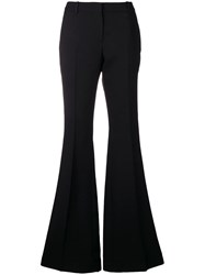 Alexander Mcqueen High Waisted Flared Trousers Black