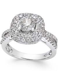 Macy's Diamond Halo Engagement Ring 2 Ct. T.W. In 14K White Gold