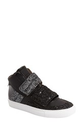 Maison Martin Margiela Women's Mm6 Maison Margiela Glitter High Top Sneaker Gunmetal
