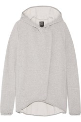 Athletic Propulsion Labs Asymmetric French Cotton Terry Hooded Top Gray
