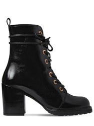 Stuart Weitzman 60Mm Climbing Patent Leather Ankle Boots Black