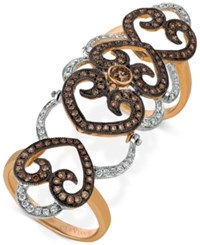 Le Vian Chocolatier Diamond Knuckle Ring 1 1 3 Ct. T.W. In 14K Rose And White Gold Two Tone