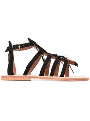 K. Jacques Fregate Sandals Black