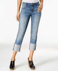 Kut From The Kloth Cameron Distressed Cuffed Boyfriend Hard Working Wash Jeans Fervent Wash