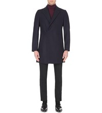 Reiss Ballad Wool Blend Coat Navy