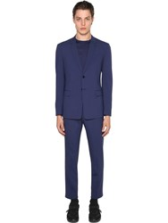 Prada Deconstructive Bi Stretch Wool Suit Baltic Blue