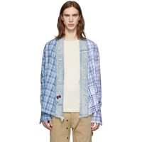 Greg Lauren Blue Paul And Shark Edition Kimono Shirt