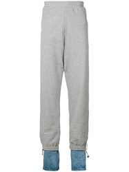 Y Project Denim Cuff Track Pants Grey