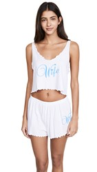 Wildfox Couture Wifey Pj Set Clean White