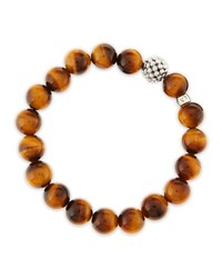 10Mm Caviar Ball Tiger's Eye Beaded Stretch Bracelet Tiger Eye Lagos