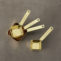 4 Piece Gold Measuring Cup Set