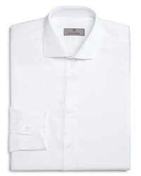 Canali Solid Regular Fit Dress Shirt White
