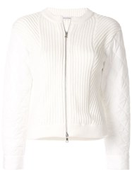 Guild Prime Shell Panelled Cardigan White