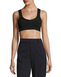 Dries Van Noten Nail Sleeveless Knit Crop Top Black