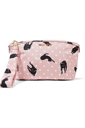 Miu Miu Printed Canvas Cosmetics Case Pastel Pink