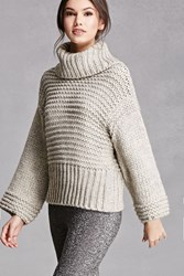 Forever 21 Chunky Wool Blend Sweater Grey