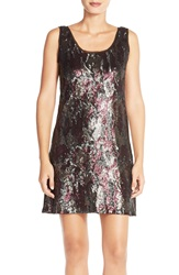 Kut From The Kloth Sequin Mesh Shift Dress Camo Print
