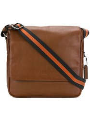 Coach Metro Map Messenger Calf Leather Brown