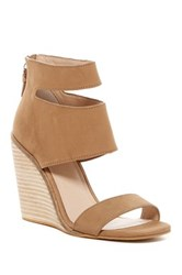 Kelsi Dagger Mackie Wedge Sandal Brown