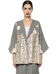 Antonio Marras Embroidered Linen And Macrame Lace Jacket