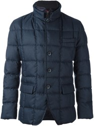 Fay Layered Padded Jacket Blue