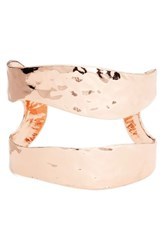 Karine Sultan Women's Split Cuff Rose Gold