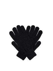 Paul Smith Cashmere And Merino Wool Blend Gloves Navy