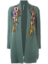 Antonio Marras Embellished Cardigan Green