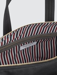 Thom Browne Unstructured Holdall In Nylon Plain Weave Suede