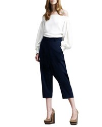 The Row Cropped Harem Trousers Navy