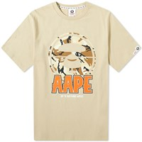 Aape By A Bathing Ape Front Target Tee Neutrals