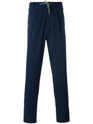 Brunello Cucinelli Drawstring Trousers Blue