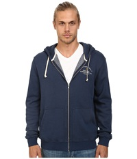 Lightning Bolt Venice Surf Co Triblend Zip Hoodie Dress Blue Men's Sweatshirt Navy