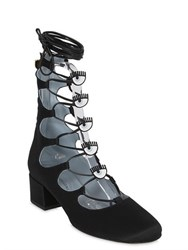 Chiara Ferragni 45Mm Eyes Satin Lace Up Boots