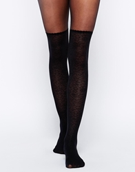 Gipsy Mock Lace Leg And Body Tights Black