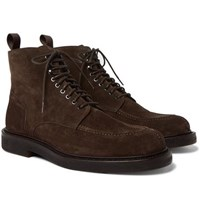 Mr P. Jacques Shearling Lined Suede Boots Brown