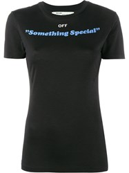 Off White Something Special T Shirt Black