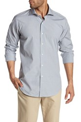 Peter Millar Multi Check Button Up Refined Fit Shirt Gray