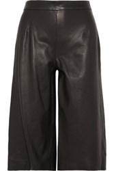Iris And Ink Leather Culottes Black