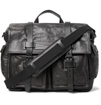 Belstaff Colonial Full Grain Leather Messenger Bag Black
